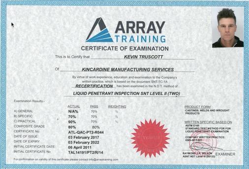 kevin truscott Lpi certificate