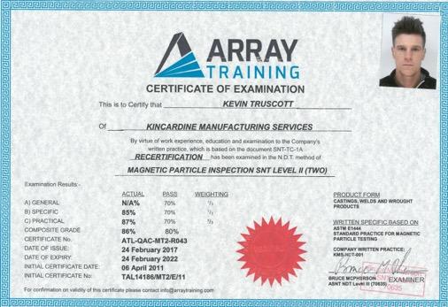 kevin truscott Mpi Asnt certificate